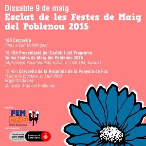 Esclat de les Festes de Maig del Poblenou 2015